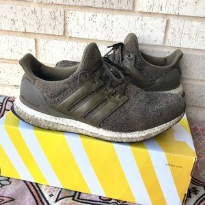 Adidas Ultra Boost 3.0 Green Running Shoes